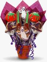 Halloween biscuit bouquet