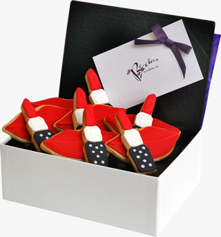 Lips and Lipsticks Biccies Box
