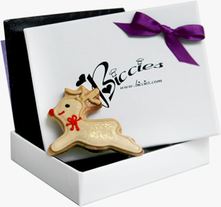 Christmas Rudolph Biccies Single