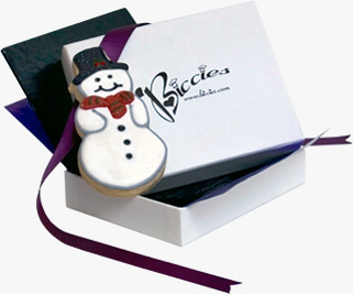 Christmas Snowman Biccies Single